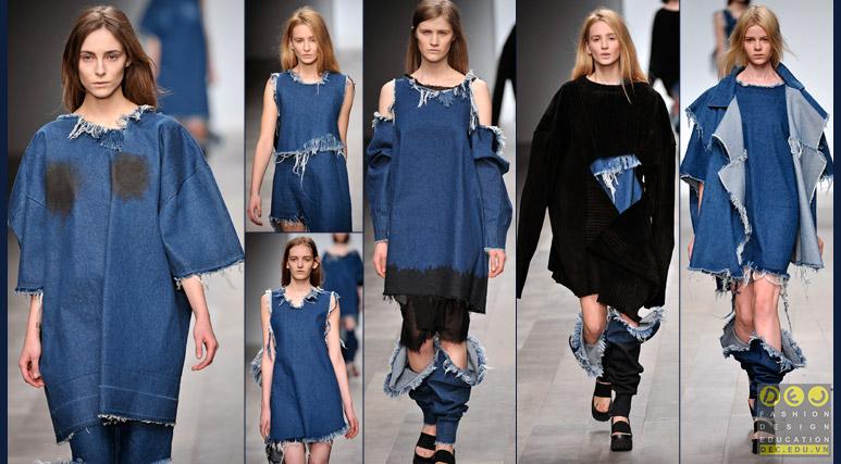 Vải Denim trong thiết kế thời trang cao cấp của Marta Marques & Paulo Almeid