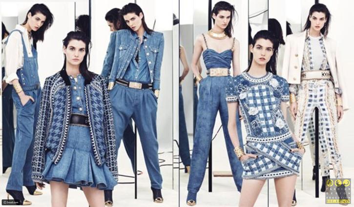 Vải Denim trong thiết kế thời trang cao cấp của Balmain