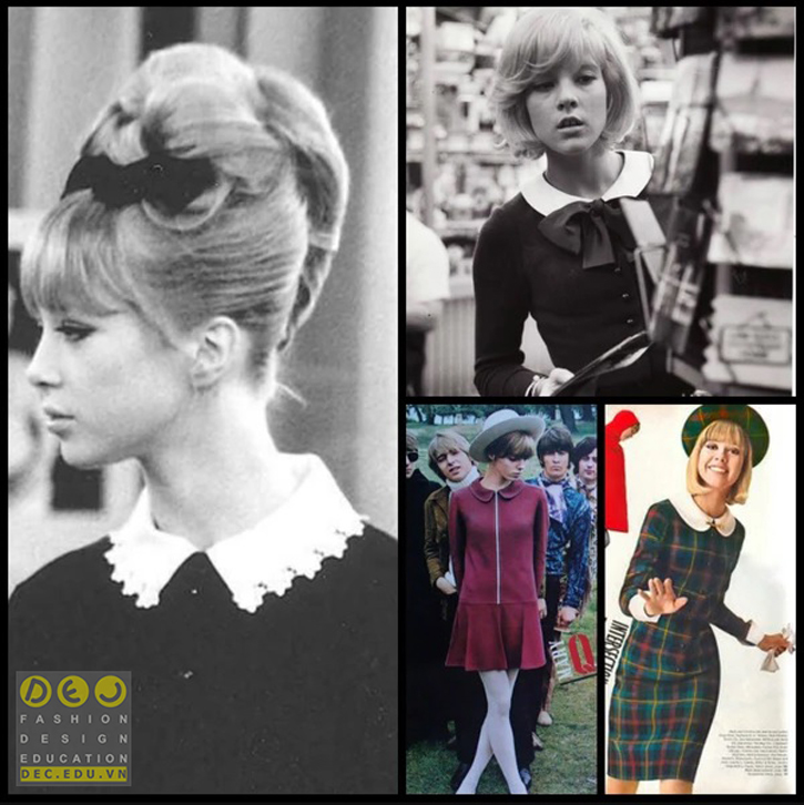 Pattie Boyd mang táo cổ Peter trong phim A Hard Day's Night